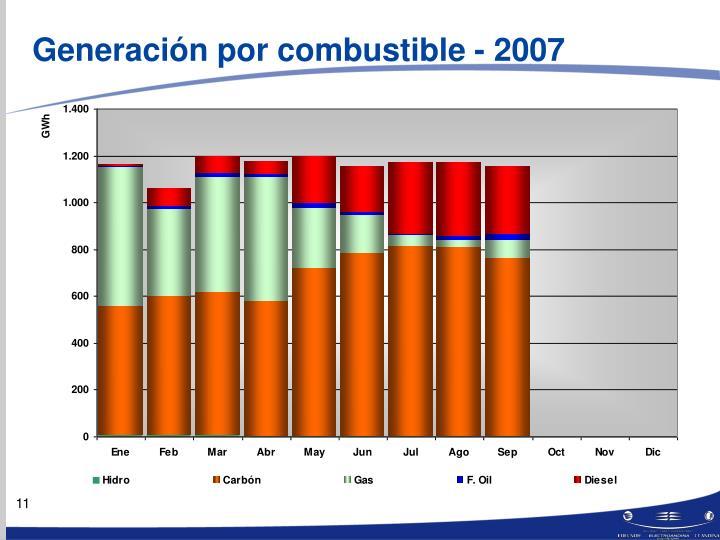Generación por combustible - 2007