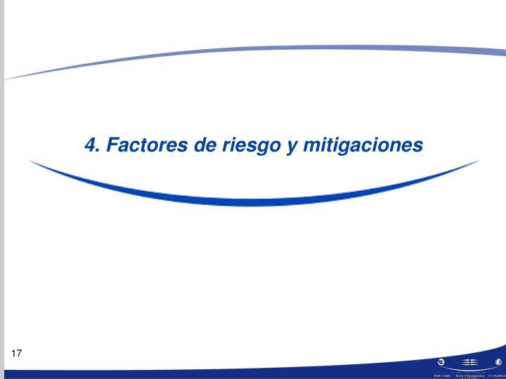 4. Factores de riesgo y mitigaciones