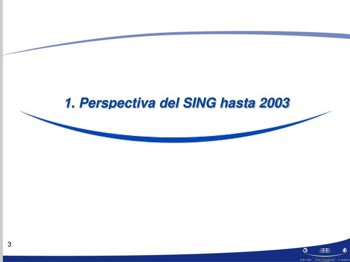 1. Perspectiva del SING hasta 2003