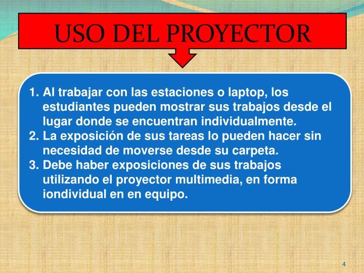 USO DEL PROYECTOR