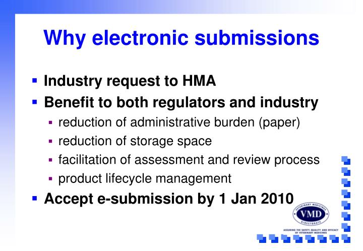 Why electronic submissions