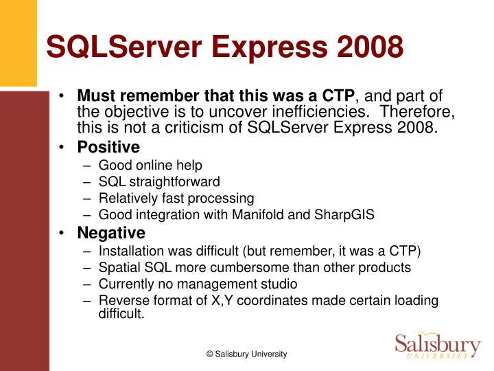 SQLServer Express 2008