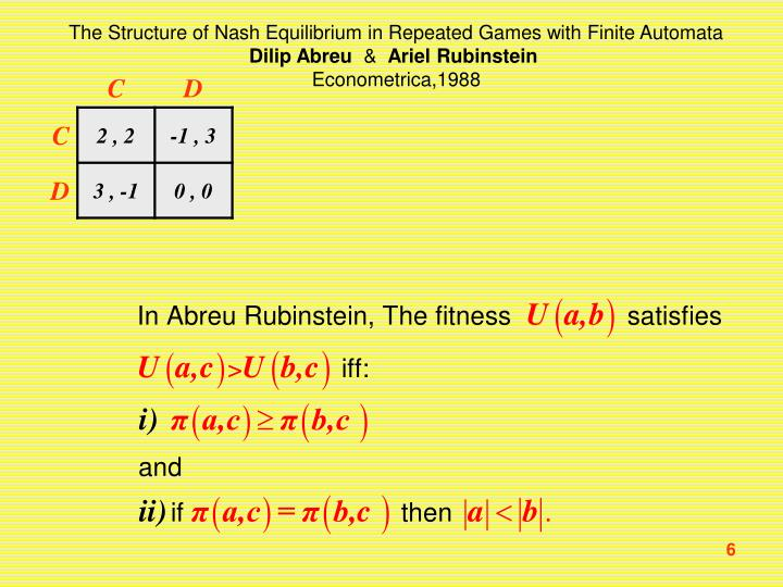 The Structure of Nash Equilibrium in Repeated Games with Finite Automata