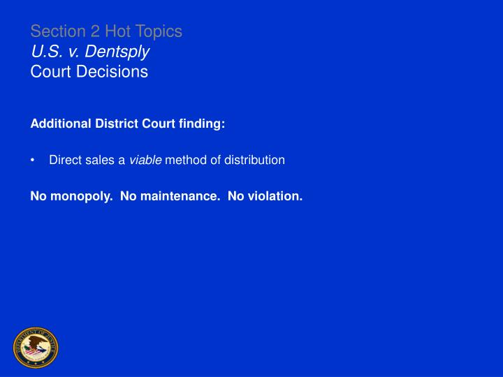 Section 2 Hot Topics