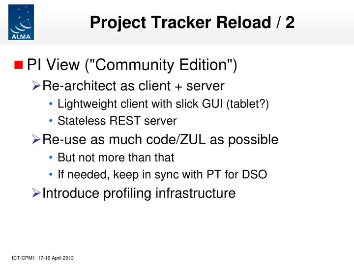 Project Tracker Reload / 2