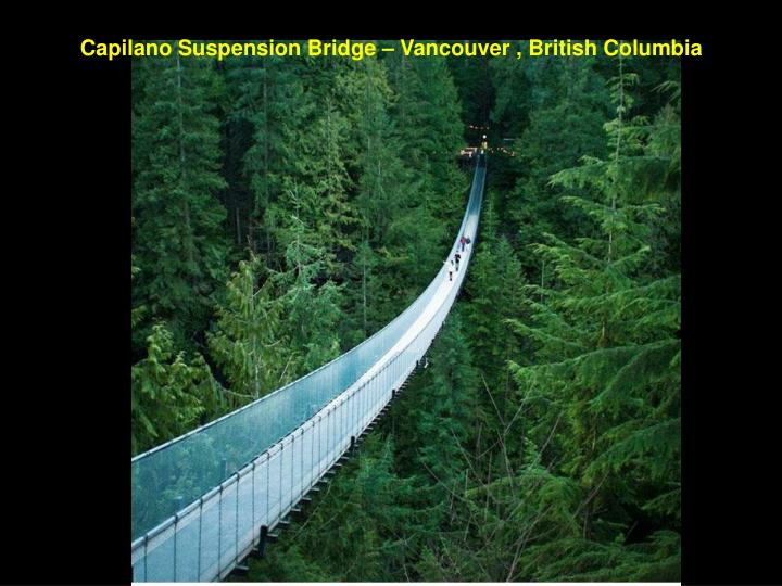 Capilano Suspension Bridge – Vancouver , British Columbia