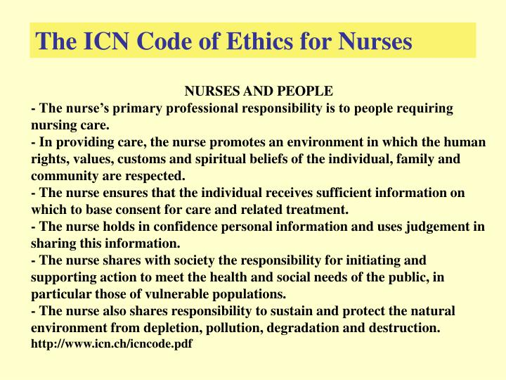 essay on nursing code of ethics Free coursework on nursing ethics from essayukcom, the uk essays company for essay, dissertation and coursework writing.