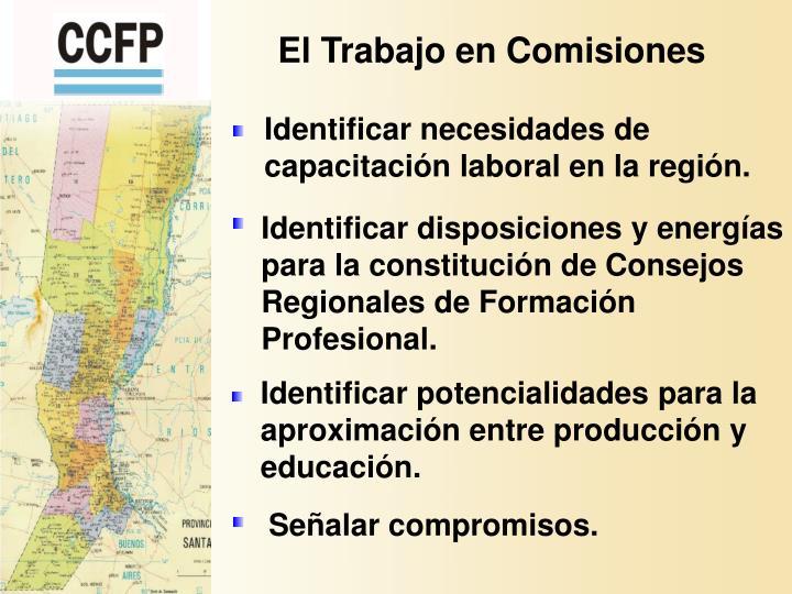 El Trabajo en Comisiones