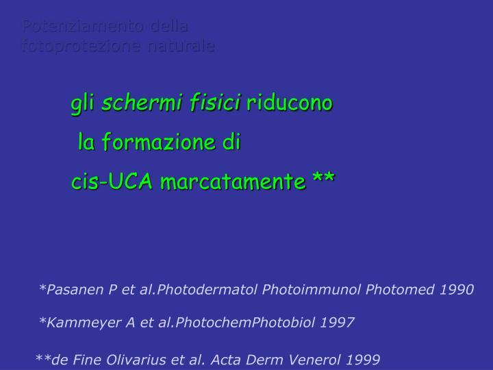 Potenziamento della fotoprotezione naturale