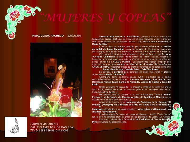 """""""MUJERES Y COPLAS"""""""
