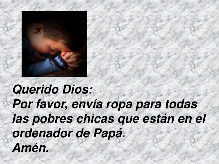 Querido Dios:
