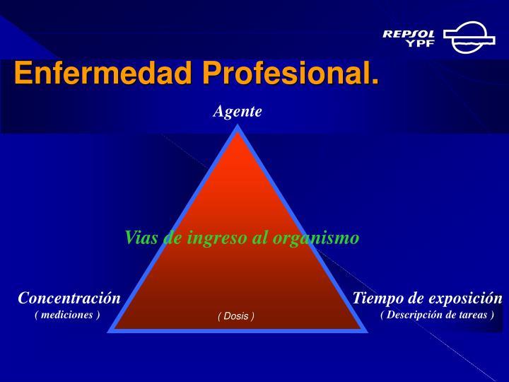 Enfermedad Profesional.