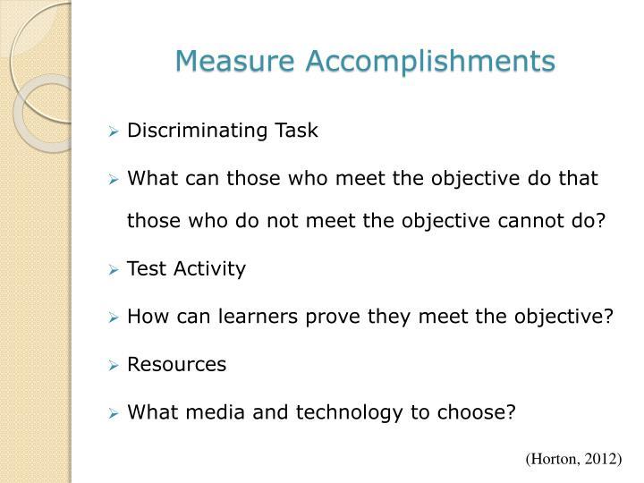 Measure Accomplishments