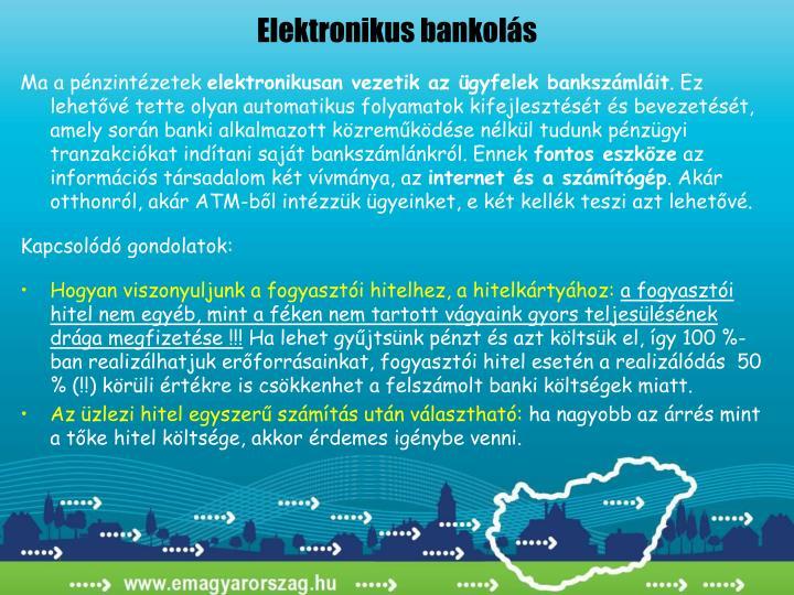 Elektronikus bankolás