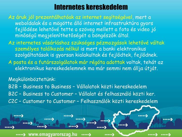 Internetes kereskedelem