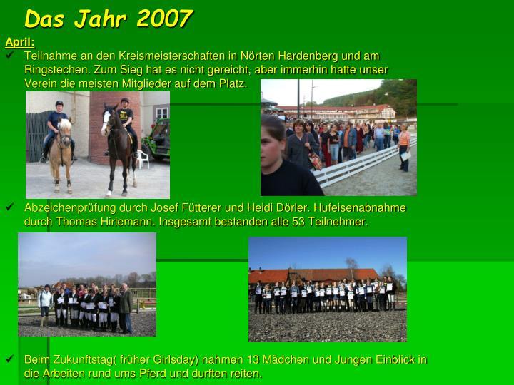 Das Jahr 2007
