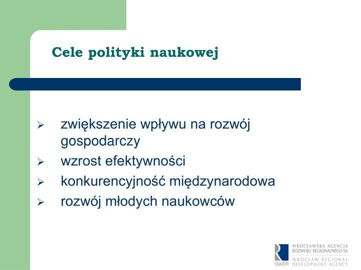 Cele polityki naukowej