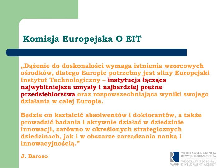 Komisja Europejska O EIT