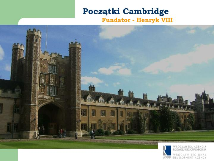 Początki Cambridge