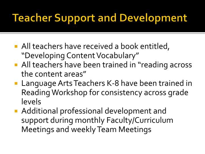 Teacher Support and Development