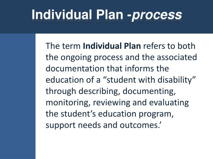 Individual Plan -