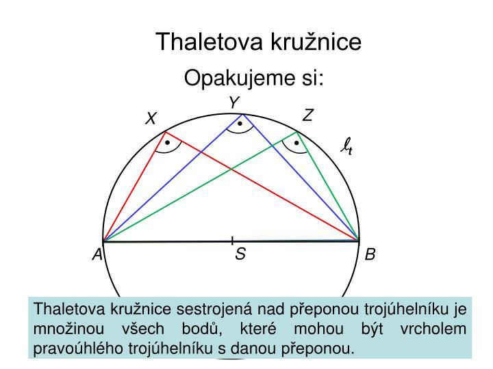 Thaletova kružnice