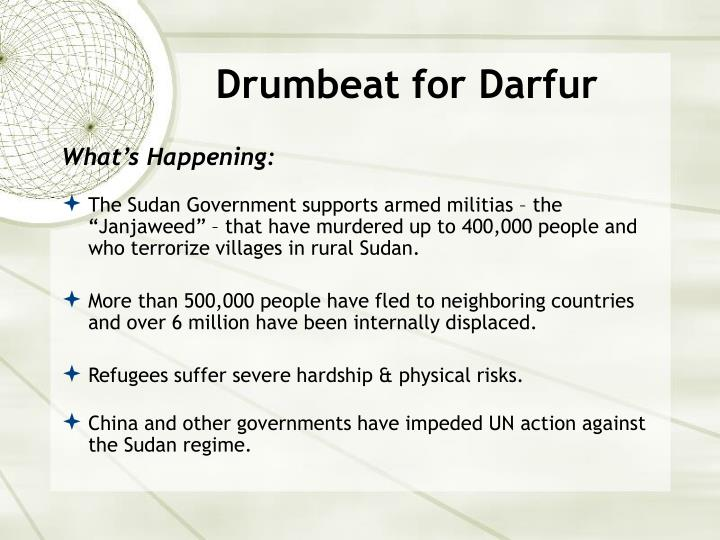 Drumbeat for Darfur