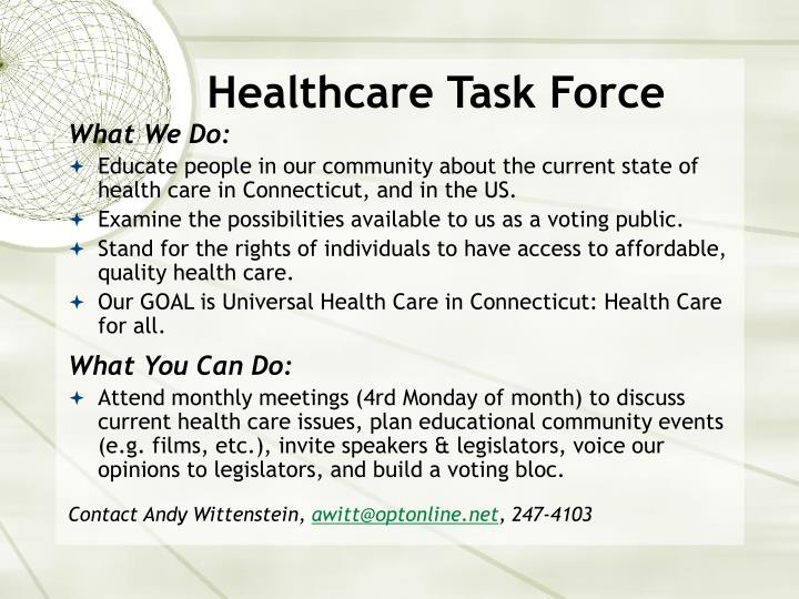 Healthcare Task Force
