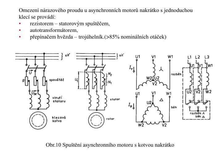 Omezení nárazového proudu u asynchronních motorů nakrátko s jednoduchou