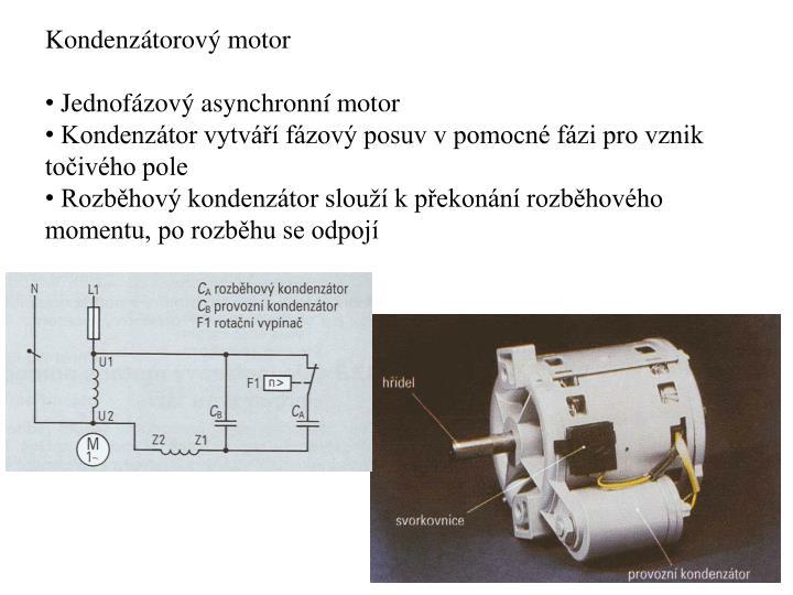 Kondenzátorový motor