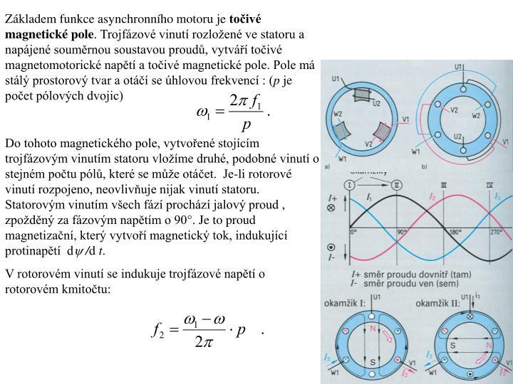 Základem funkce asynchronního motoru je