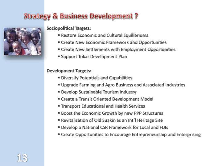 Strategy & Business Development ?