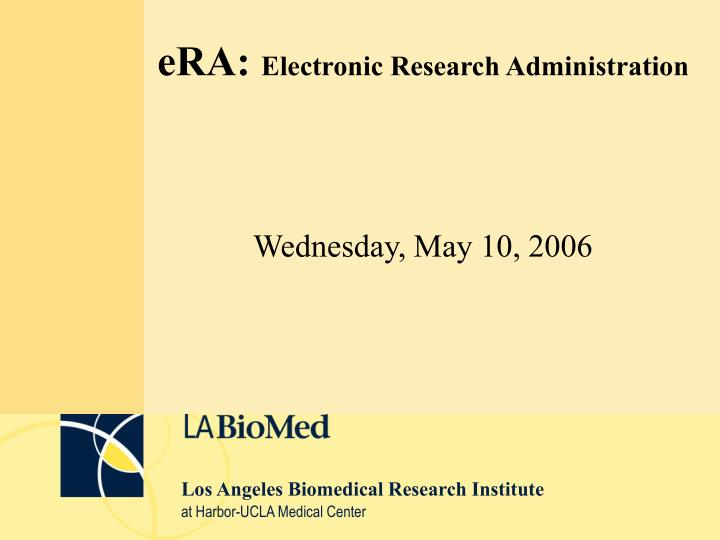 Era electronic research administration