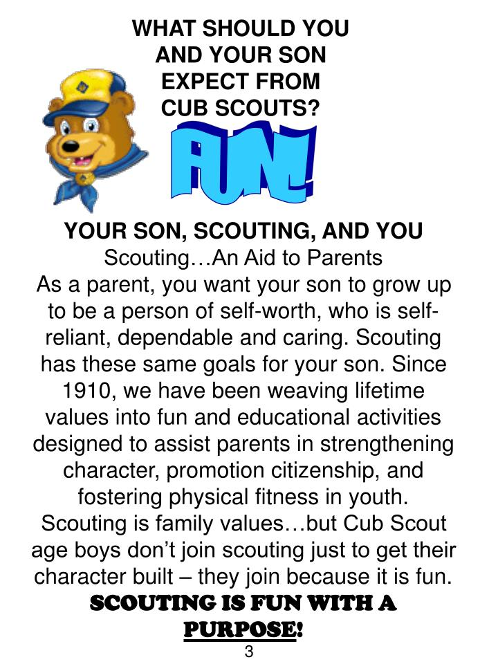 Ppt cub scout parent s orientation guide welcome to the for Cub scout powerpoint template