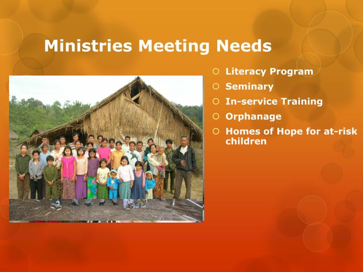 Ministries Meeting Needs