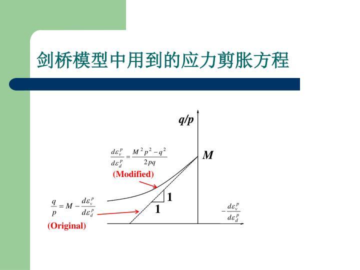 剑桥模型中用到的应力剪胀方程