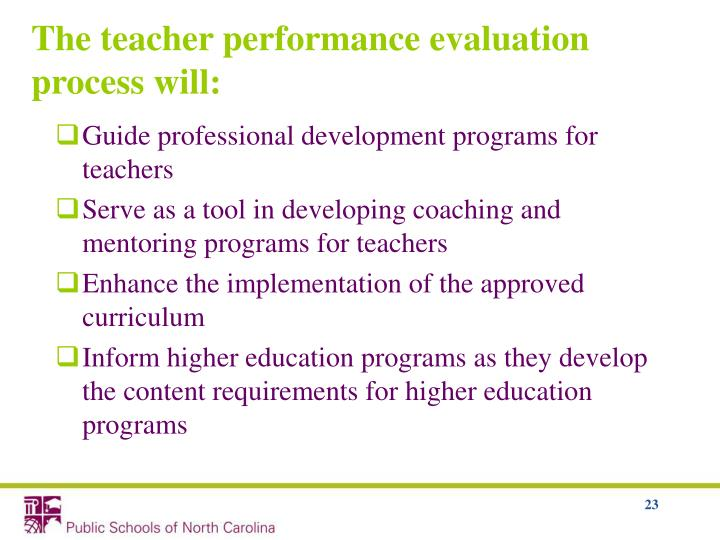 Guide professional development programs for teachers