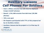 auxiliary liaisons cell phones for soldiers