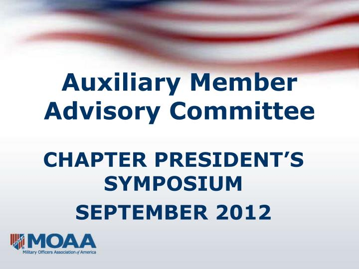 Auxiliary member advisory committee