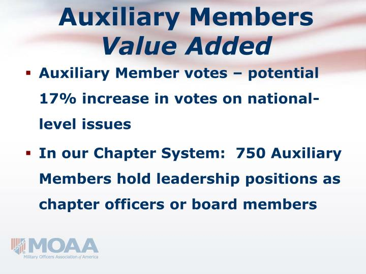 Auxiliary Members