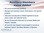 auxiliary members value added1