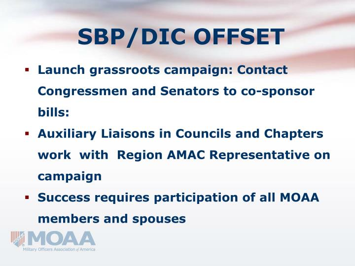 SBP/DIC OFFSET