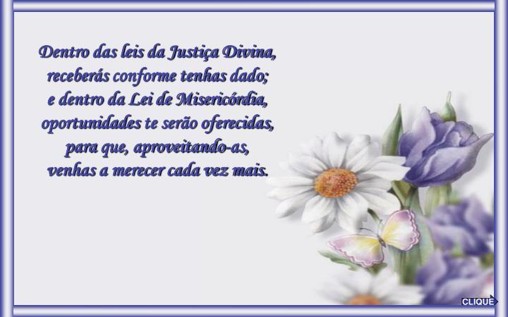 Dentro das leis da Justiça Divina,
