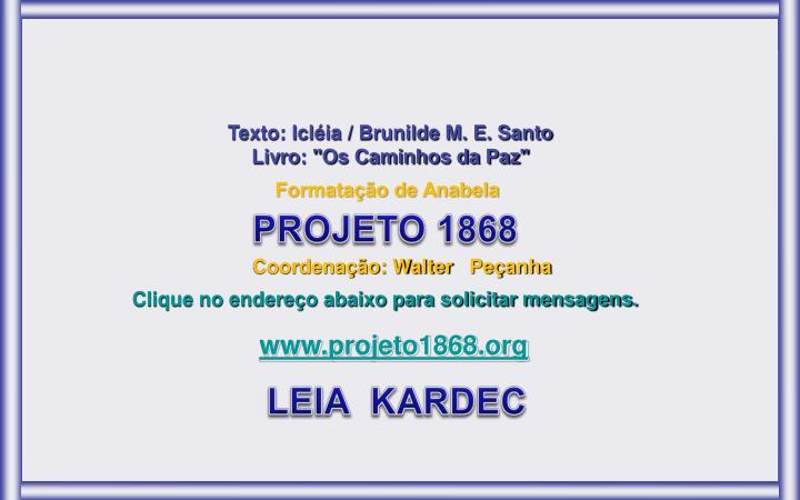 Texto: Icléia / Brunilde M. E. Santo