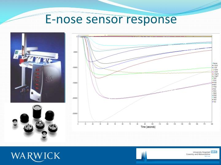 E-nose sensor response