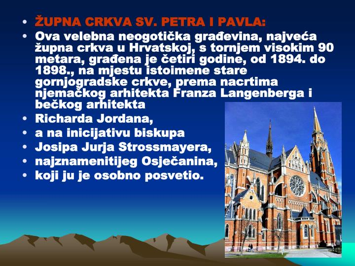 ŽUPNA CRKVA SV. PETRA I PAVLA: