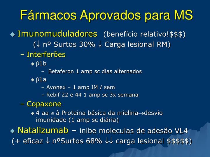 Fármacos Aprovados para MS
