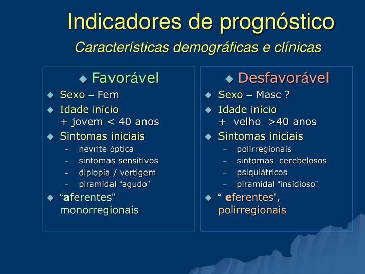 Indicadores de prognóstico