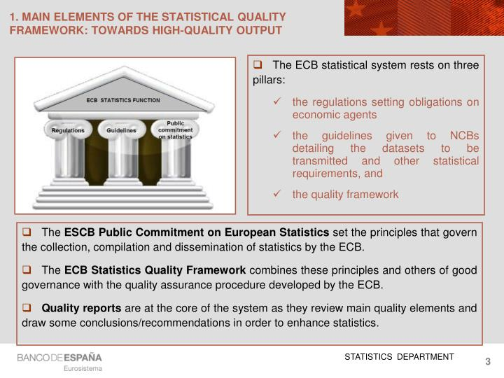 1 main elements of the statistical quality framework towards high quality output