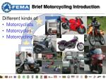 brief motorcycling introduction